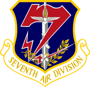 7th Air Division - Image: 7th Air Division crest