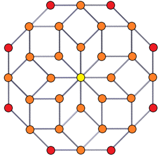 Ammann–Beenker tiling - This tiling exists in a 2D orthogonal projection of a 4D 8-8 duoprism constructed from 16 octahedral prisms.