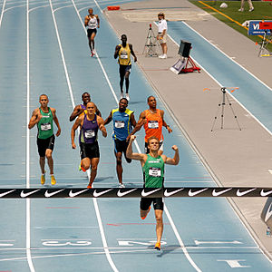 Nick Symmonds winning the men's 800m national ...