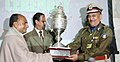 A. K. Antony presenting the Republic Day Parade - 2010 trophy for the best marching contingent amongst the Paramilitary and other Auxiliary marching contingents to the Central Reserve Police Force.jpg
