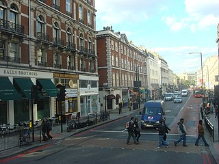 Buckingham Palace Road street in London