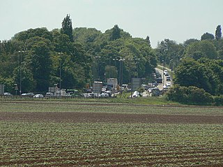 A453 road road in England