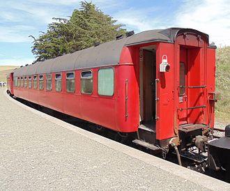 NZR 56-foot carriage - Weka Pass Railways AC 3548 in Waikari.