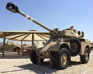 Panhard AML - Plinthed Israeli AML-90 at Yad La-Shiryon.