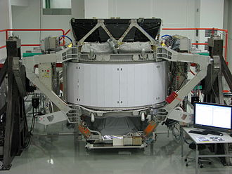 Alpha Magnetic Spectrometer - AMS-02 during integration and testing at CERN near Geneva.