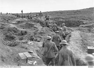 25th Battalion (Australia) - 25th Battalion headquarters near Ypres, 21 September 1917.