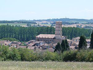 Lombez - Image: A Cathédrale vue de la chapelle St Majan