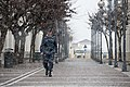 A Sailor walks through snow in Naples. (16478080466).jpg
