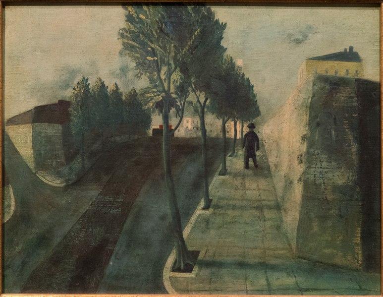File:A Tree-Lined Street by MATSUMOTO, Shunsuke 1943.tiff