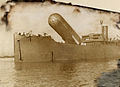 A view of the H.M.S Canning and its observation balloon.jpg
