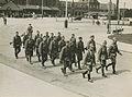 Aankomst van het detachement van het Regiment Wielrijders uit Den Bosch aan het – F40350 – KNBLO.jpg
