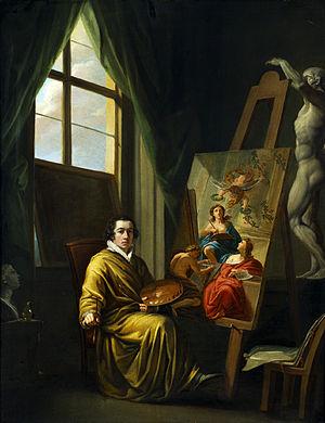 Josef Abel -  Self-Portrait in the Studio