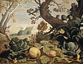 Abraham Bloemaert - Landschap met groenten en vruchten op de voorgrond.jpg