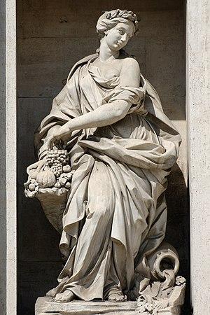 Filippo della Valle - Image: Abundance fontana di Trevi Roma