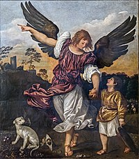 Accademia - Archangel Raphael and Tobit by Titian.jpg