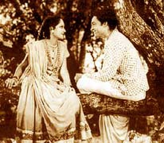 Devika Rani - Devika Rani and her frequent co-star Ashok Kumar, in Achhut Kanya (1936).