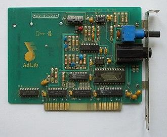 Ad Lib, Inc. - Image: Ad Lib Music Synthesizer Card