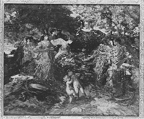 Women and Cherubs in a Glen
