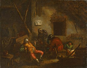 Four Peasants in a Barn