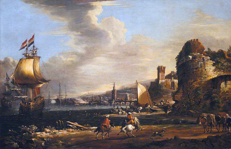 File:Adriaen van der Kabel - Port of Genua 1660.jpg