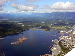 Aerial View of Port Alberni harbour.JPG