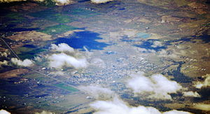 Goldendale, Washington - Aerial view of Goldendale from the northeast, 2015