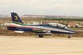 Aermacchi MB-339 PAN (3) de los Frecce Tricolori de la Aeronautica Militare Italiana (14918517043).jpg