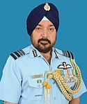 Air Marshal Harjit Singh Arora taking charge as the Air Officer Commanding-in-Chief (AOC-in-C), South Western Air Command, at Gandhinagar on October 01, 2018.jpg