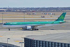 Aer Lingus destinations - Airbus A330-302 taxiing at New York-JFK Airport