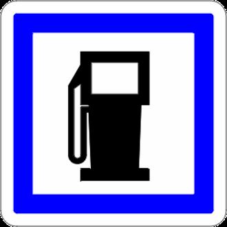 A40 autoroute - Image: Aire d'autoroute station essence