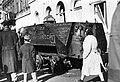 Akácfa utca a Rákóczi útnál. Kiégett szovjet BTR-152 páncélozott lövészszállító jármű. Fortepan 31600.jpg