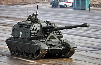 Self-propelled artillery - A 2S19 Msta-M2 of the Russian Army