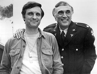 Alan Alda - Alan and Robert Alda in 1975