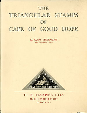 D. Alan Stevenson - Stevenson's 1950 book The Triangular Stamps of Cape of Good Hope.
