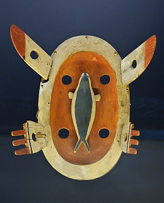 Yupik - Yup'ik mask, Sitka, Alaska, collection of the Alaska State Museum
