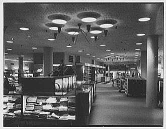 Steiger's - Menswear and furniture departments in the Springfield flagship store, 1953