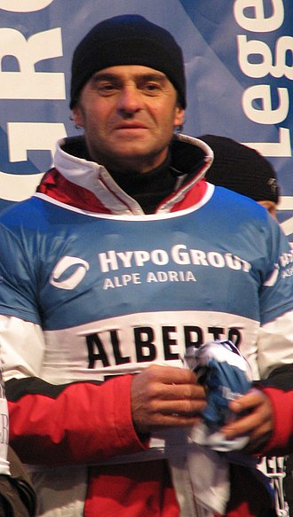 Winter Olympic Games - Alberto Tomba, winner of five Olympic medals in Calgary, Albertville and Lillehammer