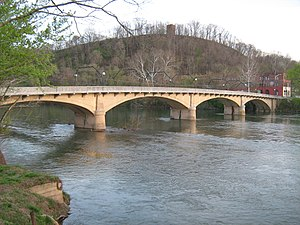 Alderson, West Virginia - Image: Alderson Memorial Bridge in West Virginia