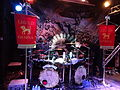 Alestorm, Ex Deo and Lagerstein at St des Seins, Toulouse, 2013-03-20 - Ex Deo flags + drums.JPG