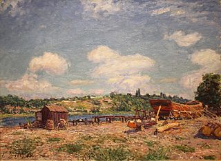 Boatyard at Saint-Mammès