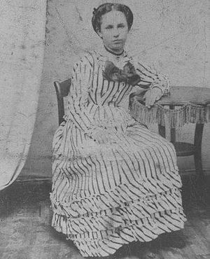 """Virgil Earp - Alvira """"Allie"""" P Sullivan, Virgil's Earp's future wife, at age 16. They met in Council Bluffs, Iowa, when she was 25 in 1874."""