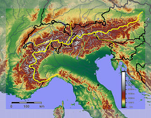 Main chain of the Alps - Main chain of the Alps