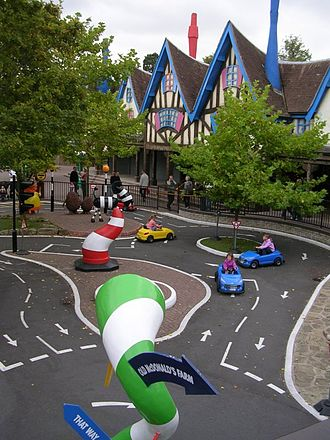 Alton Towers - Driving School attraction in Cloud Cuckoo Land