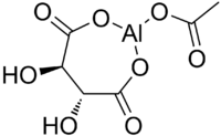 Skeletal formula of aluminium acetotartrate