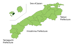 Location of Ama in Shimane Prefecture