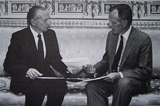 Ambassador - Before taking office, an ambassador's credentials must be accepted, such as when South African Ambassador Harry Schwarz handed his credentials to U.S. President George H. W. Bush in 1991.
