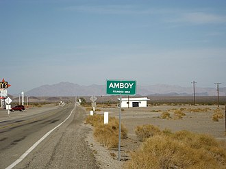 Amboy, California - Amboy sign, west side of town