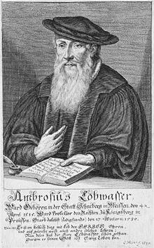 Ambrosius Lobwasser; Stich von C. Meyer, 1625. (Quelle: Wikimedia)