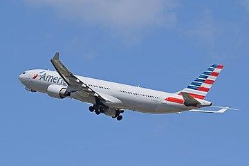American Airlines Airbus A330-300 (N274AY) departs London Heathrow 7June2015 arp.jpg
