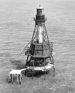 American Shoal Light lighthouse in Florida, United States